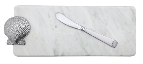 Scallop Marble Server & Spreader by Mariposa