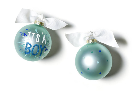 It's a Boy Popper Glass Ornament by Happy Everything!