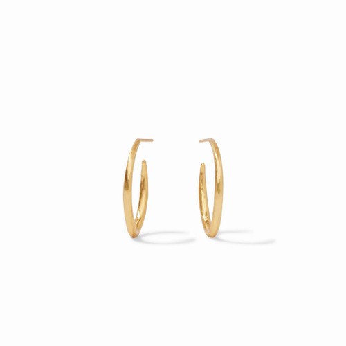 Julie Vos Fleur de Lis Medium Hoop Earring - Gold