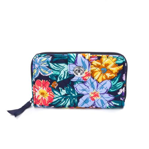 RFID Turnlock Wallet Happy Blooms by Vera Bradley