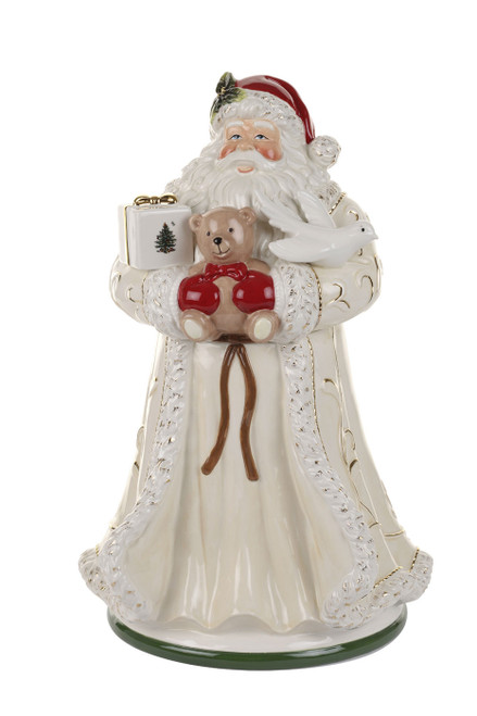 Christmas Tree Figural Large Santa Cookie Jar by Spode - Special Order