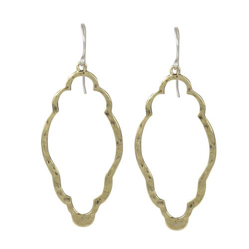 Open Up Clover Earrings (Brass) by Waxing Poetic