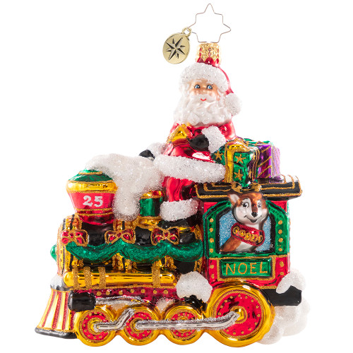 The Fast Track To Christmas! Ornament by Christopher Radko