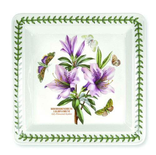 Botanic Garden Square Set of 6 Dinner Plates (Assorted Motifs) by Portmeirion - Special Order