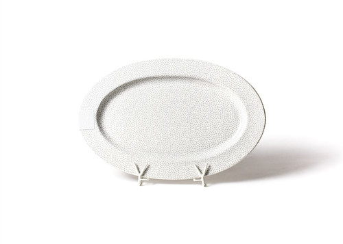 """Stone Small Dot Big 20"""" Oval Entertaining Platter by Happy Everything!"""