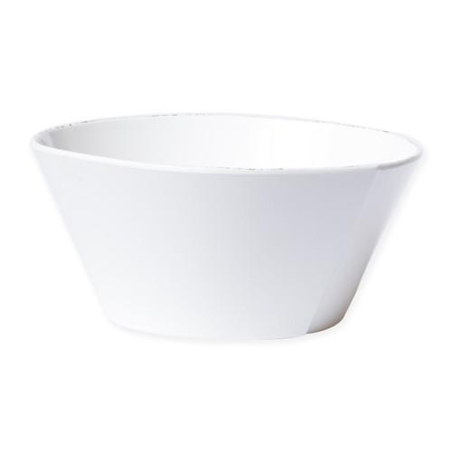 Vietri Melamine Lastra White Large Stacking Serving Bowl - Special Order