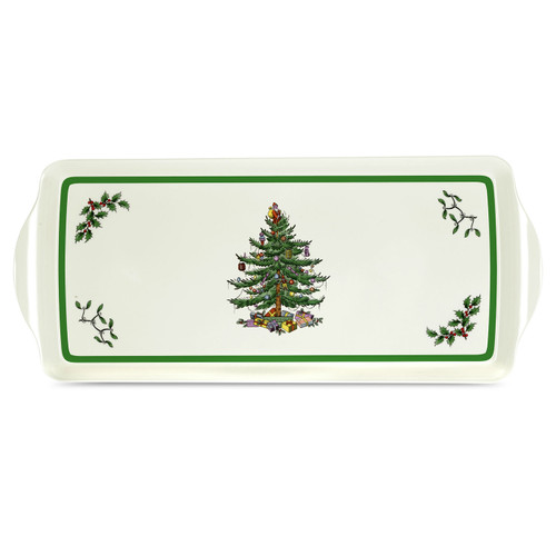 Christmas Tree Sandwich Tray by Pimpernel - Special Order