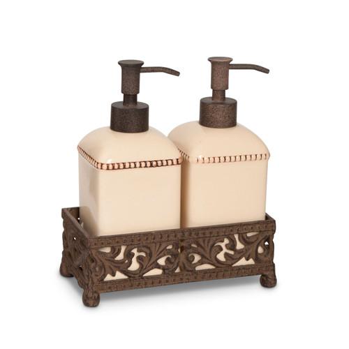 Soap/Lotion Pump Set-Cream - GG Collection