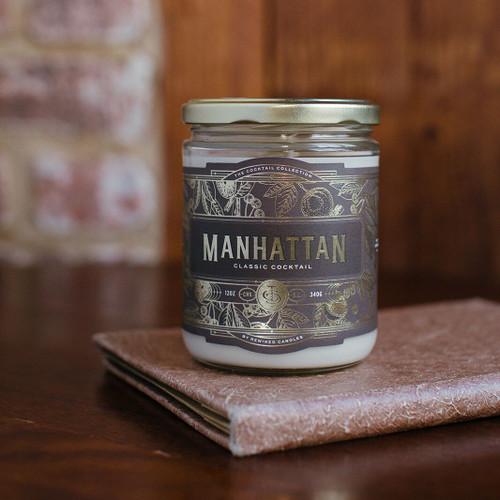 Manhattan Cocktail 12 oz. Rewined Candle