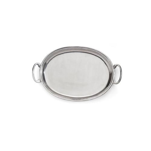 Peltro Medium Oval Tray with Handles - Arte Italica