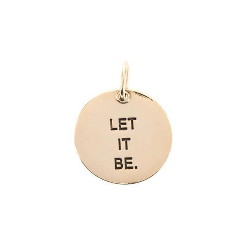 Let It Be Antique Gold Medium Circle Pendant by Benny & Ezra