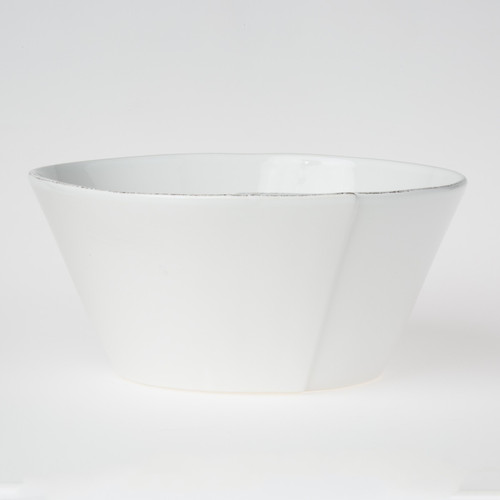 Vietri Lastra White Large Stacking Serving Bowl