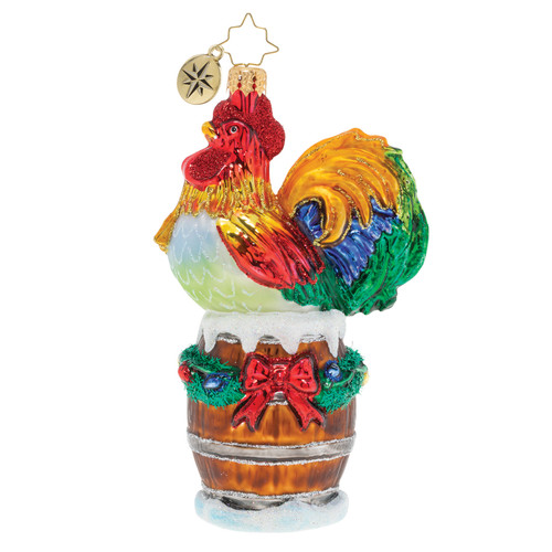 Raise the Alarm Rooster! Ornament by Christopher Radko