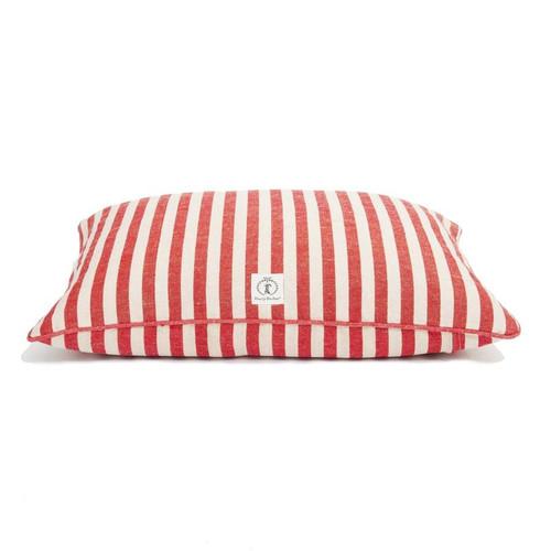 Small Red Vintage Stripe Envelope Dog Bed Cover by Harry Barker - Special Order