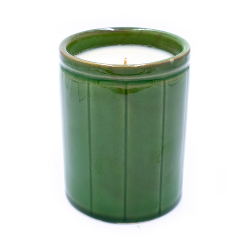 Pink Grapefruit Green Crockery Candle by Park Hill Collection