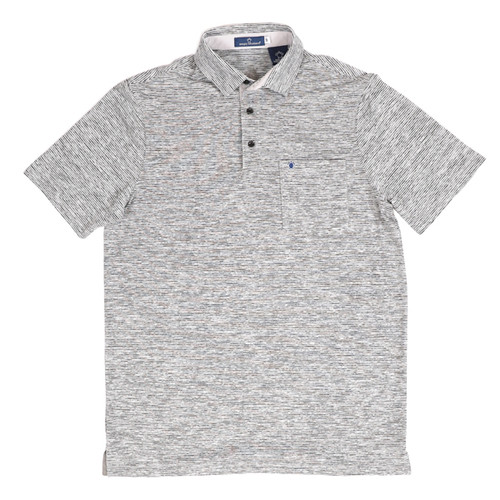 XLarge Black Russell Striped Polo by Simply Southern