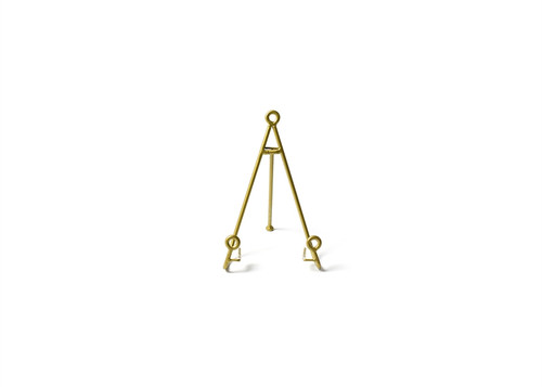 Gold Medium Loop Plate Stand by Happy Everything!