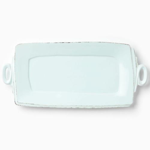Vietri Lastra Aqua Handled Rectangular Platter - Special Order