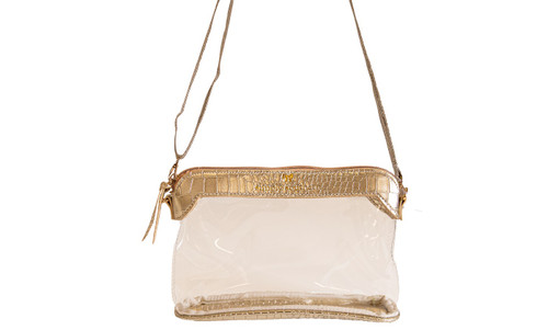 Gold Leather Clear Satchel by Simply Southern
