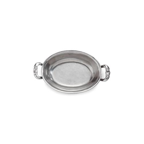 Peltro Oval Bowl with Handles - Arte Italica