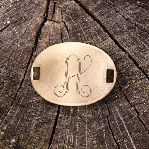 """Laiton """"A"""" Monogram Charm by Beaucoup Designs"""