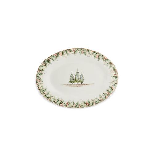 Natale Oval Platter - Arte Italica