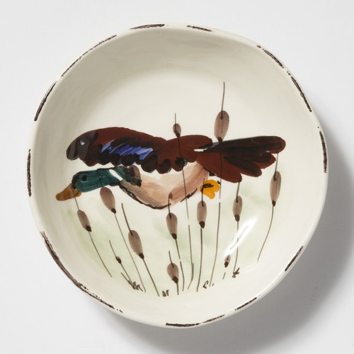 Vietri Wildlife Mallard Pasta Bowl - Special Order
