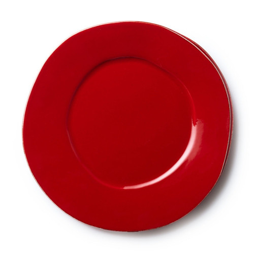 Vietri Lastra Red American Dinner Plate - Special Order