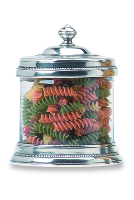 Small Glass Canister by Match Pewter
