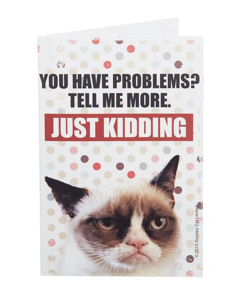 Grumpy Cat Note Cards - You Have Problems