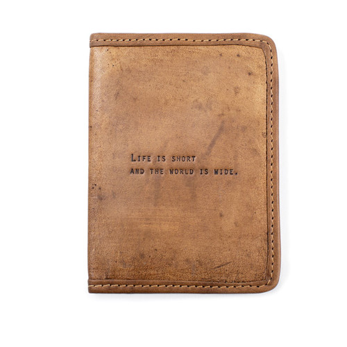 Life is Short Passport Cover by Sugarboo Designs