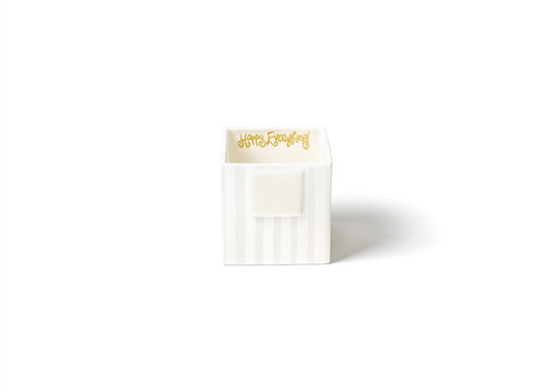 White Stripe Mini Nesting Cube Small by Happy Everything!