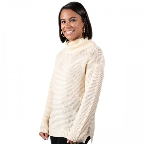 Xlarge Cream Turtleneck Sweater by Simply Southern
