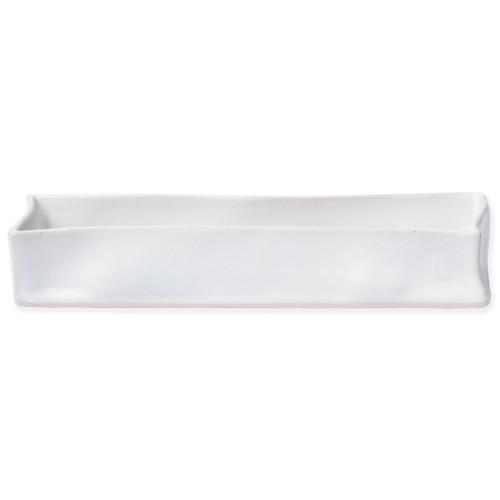 Vietri Bath Essentials White Matte Rectangular Tray - Special Order