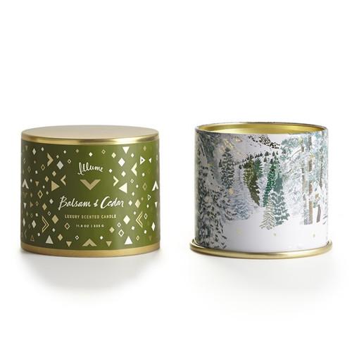 Balsam & Cedar Large Tin Illume Candle