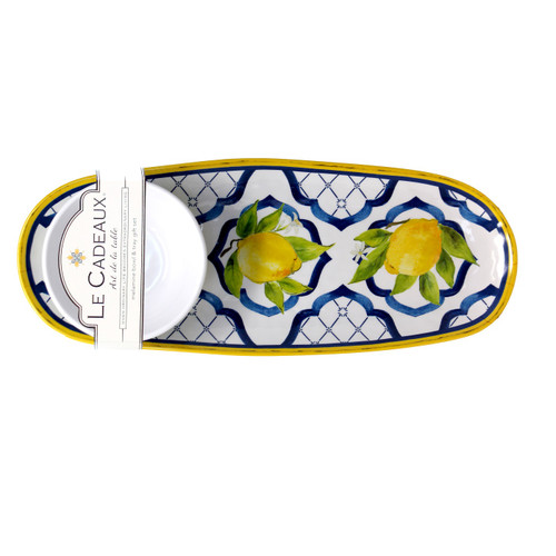 """Palermo 15"""" Bowl and Tray Set by Le Cadeaux"""