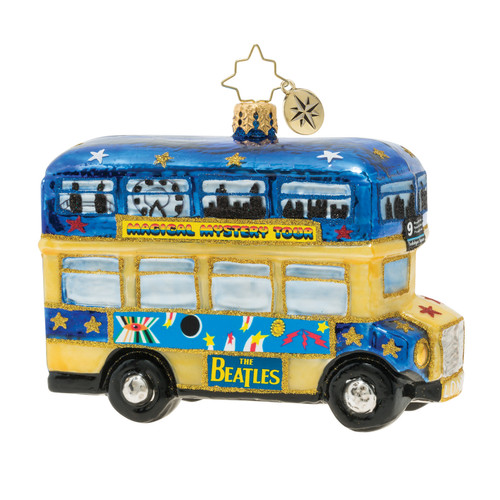 Psychedelic Magical Mystery Bus! Ornament by Christopher Radko