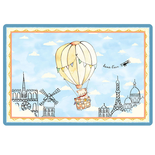 """Up in the Air Anti-Slip 17"""" x 11.5"""" Placemat by Baby Cie"""