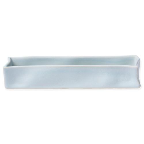 Vietri Bath Essentials Blue Matte Rectangular Tray - Special Order