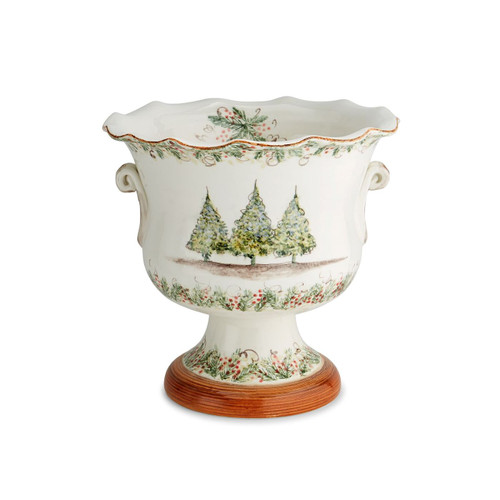 Natale Footed  Cachepot - Arte Italica