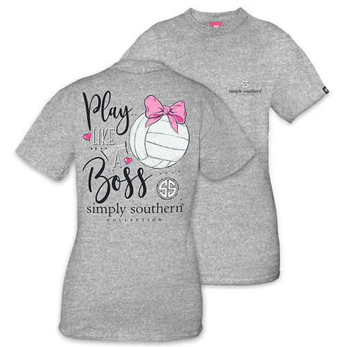 XXLarge Play Like a Boss Volleyball Short Sleeve Tee by Simply Southern
