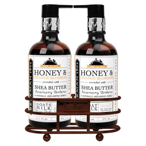 Honey & Orange Blossom Hand Care Duo Caddy Set by Beekman 1802