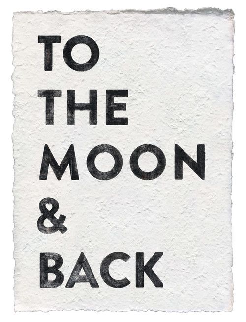 Moon & Back Handmade Paper Print by Sugarboo Designs - Special Order