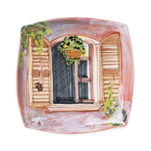 Vietri Landscape Open Window Wall Plate - Special Order
