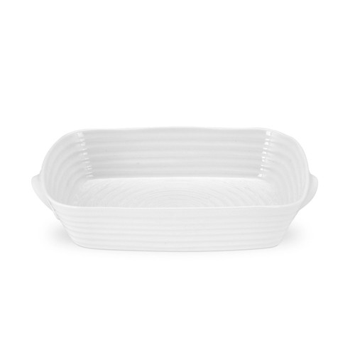 Sophie Conran White Small Handled Rectangular Roasting Dish by Portmeirion - Special Order