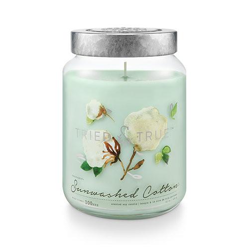 Sunwashed Cotton 22.2 oz. XL Jar Candle by Tried & True