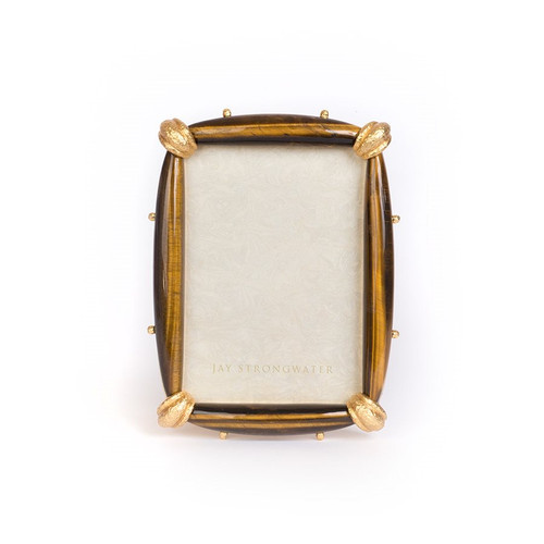 """Jay Strongwater Angelo Tiger's Eye 5"""" x 7"""" Frame - Special Order"""
