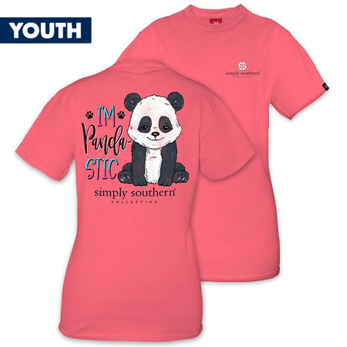 Medium I'm Pandastic YOUTH Short Sleeve Tee by Simply Southern