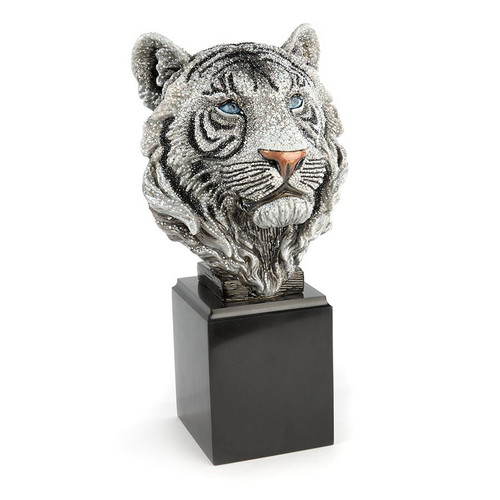 Jay Strongwater Monroe Tiger Head Objet - Special Order