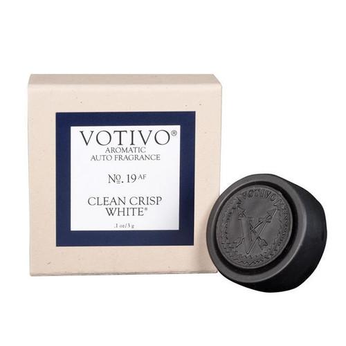 Clean Crisp White Aromatic Auto Fragrance Votivo Candle